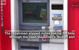 Lol! ATM Repairman Gets Stuck Inside The ATM Machine Room And He Did This Afterwards (Pics)